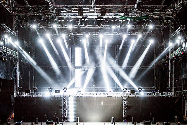 empty stage - stage performance space stock pictures, royalty-free photos & images