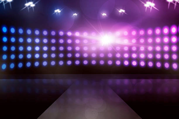 empty stage with lamp sparkling - stage performance space stock pictures, royalty-free photos & images