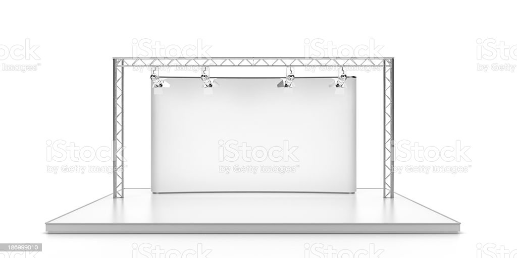 Empty stage with lightspots royalty-free stock photo