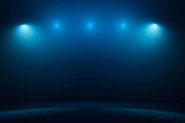 Empty stage with spotlights Empty stage with spotlights. spot lit stock pictures, royalty-free photos & images