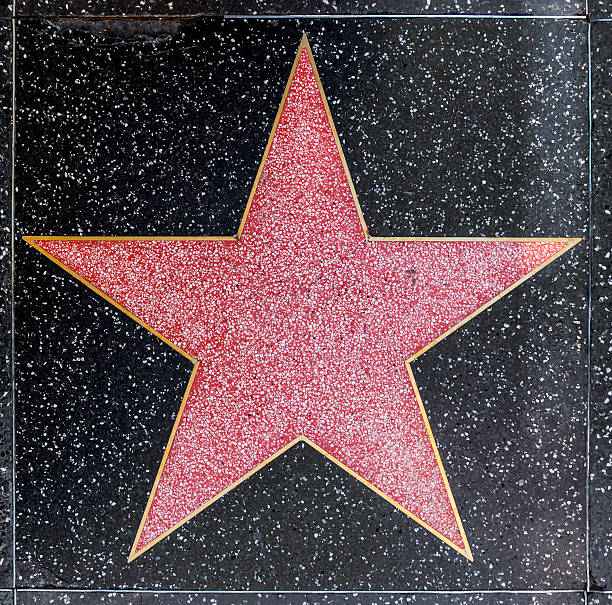 empty star on hollywood walk of fame - fame stock photos and pictures