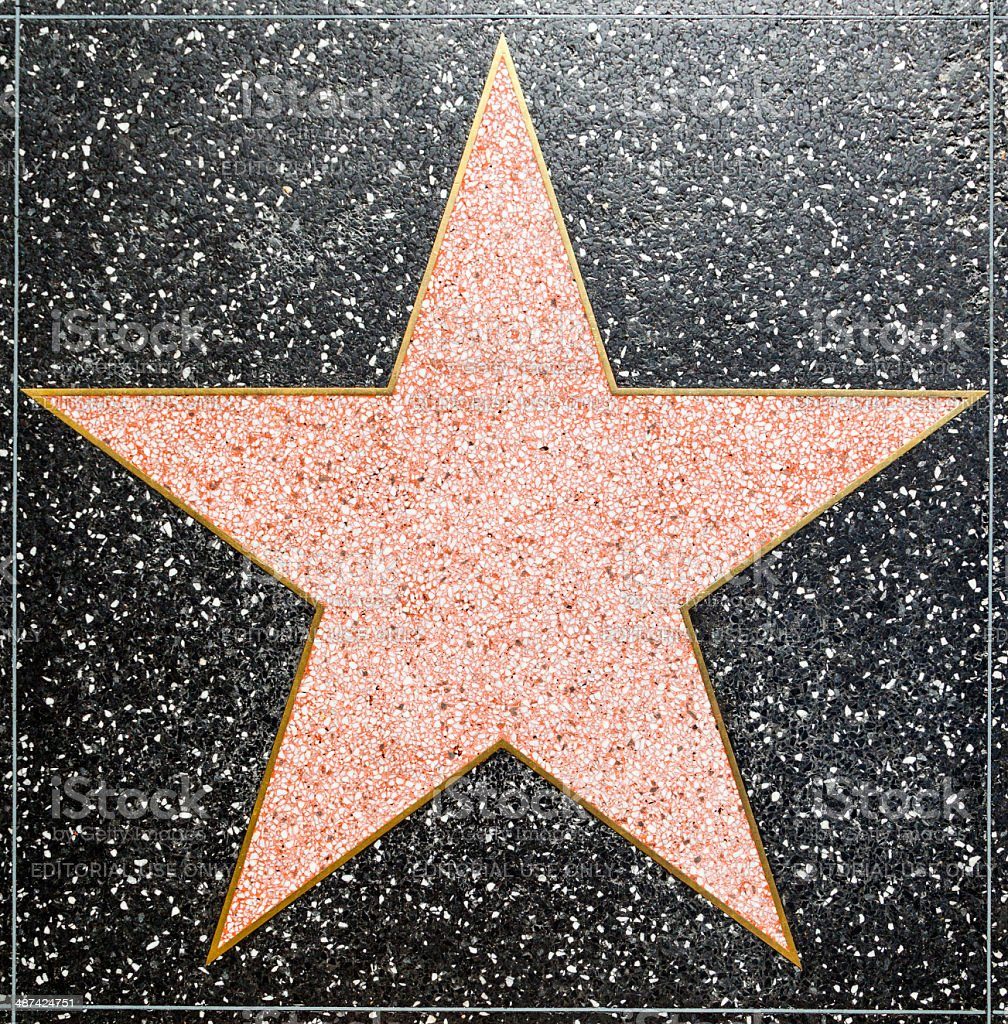 Empty Star On Hollywood Walk Of Fame Stock Photo & More ...