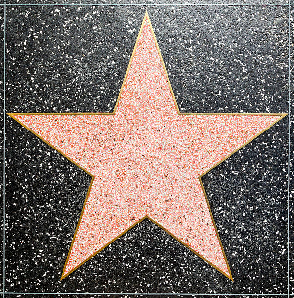 empty  star on Hollywood Walk of Fame Los Angeles, USA - June 24, 2012: empty  star on Hollywood Walk of Fame in Hollywood, California. This star is located on Hollywood Blvd. and is one of 2400 celebrity stars. hollywood boulevard stock pictures, royalty-free photos & images