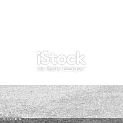 671896388istockphoto Empty stone table top on isolated white, Template mock up for display of product. 1017790616