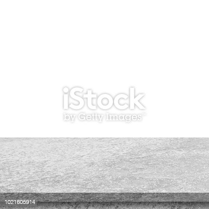 671896388istockphoto Empty stone table top on isolated white, Template mock up for display of product. 1021605914