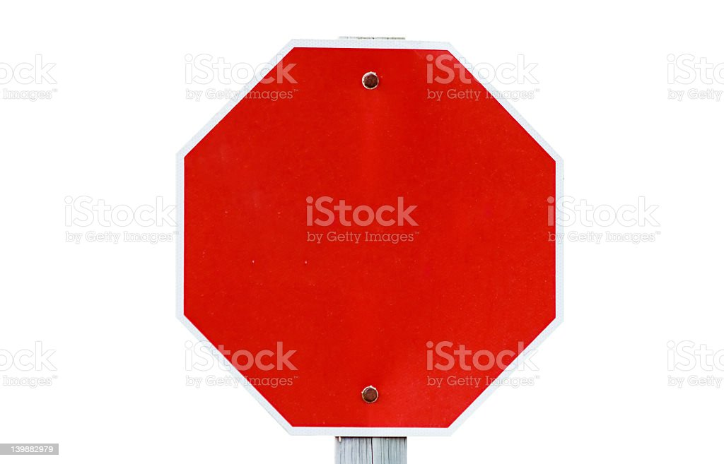 Empty Stop Sign royalty-free stock photo
