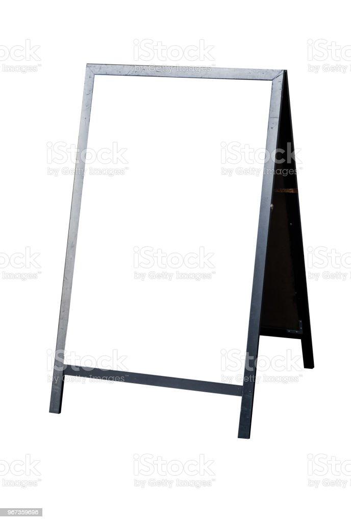 Empty store billboard  isolated on white background stock photo