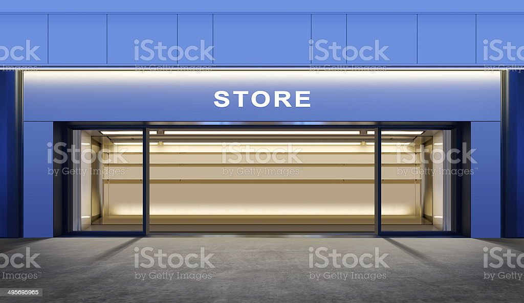 empty store stock photo