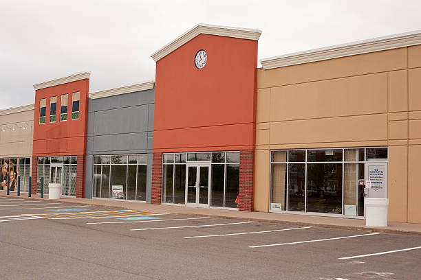 Empty Storefronts stock photo
