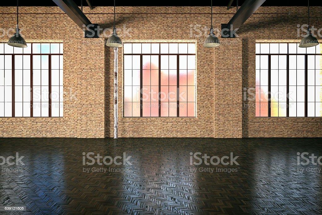 Empty Storehouse stock photo