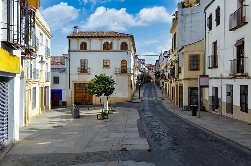 Empty street in Cordoba Spain