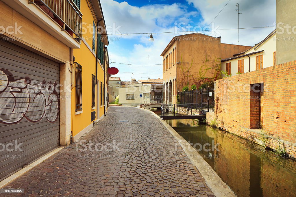 Empty street in Florence, Italy royalty-free stock photo
