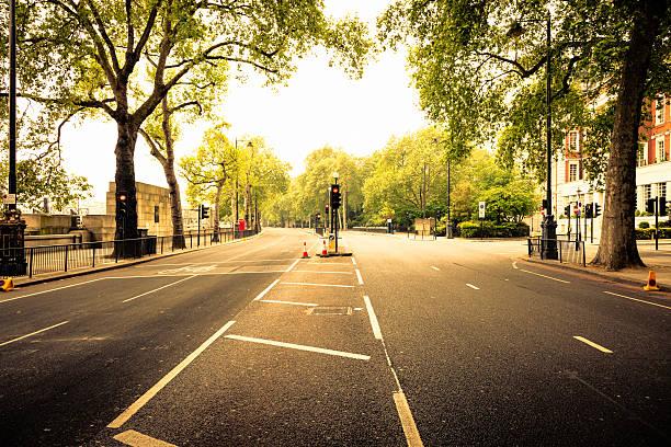 Leeren Straße in London – Foto