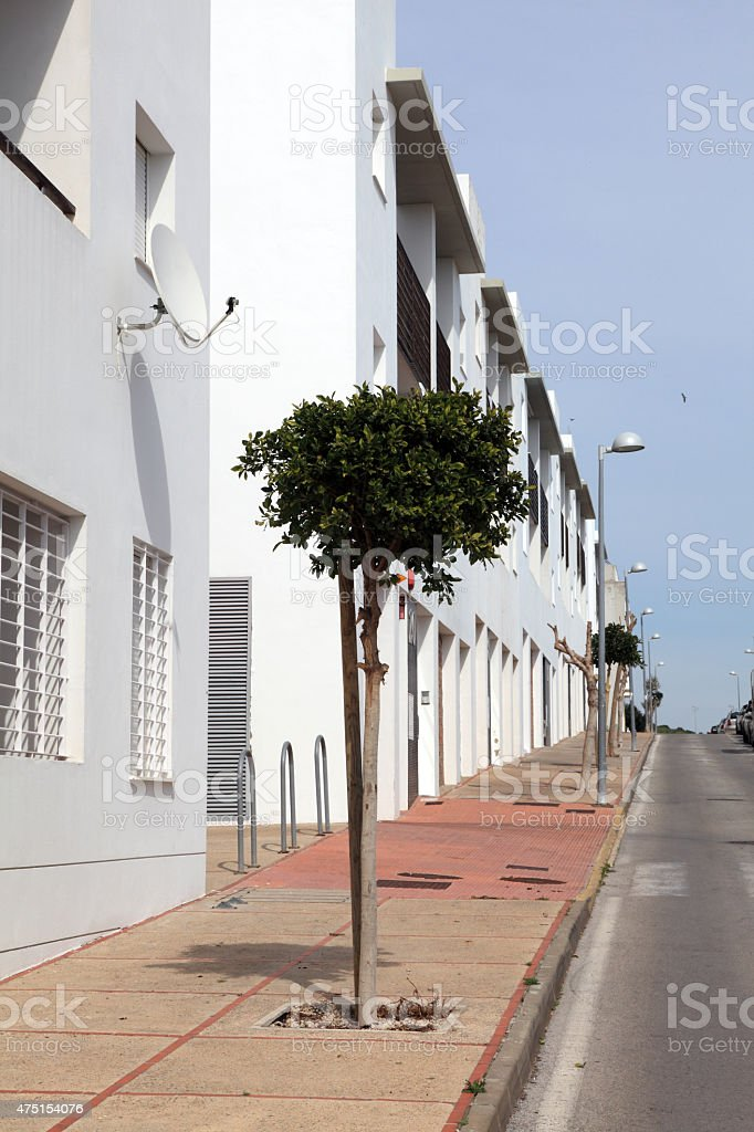 empty street in Spain stock photo