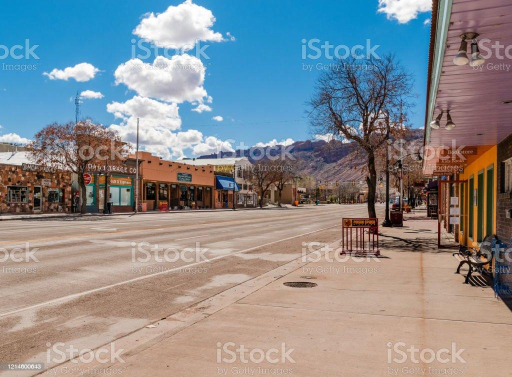 Lege Straat Moab, Utah - Royalty-free Absentie Stockfoto