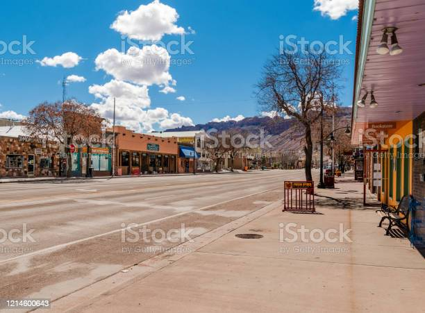Lege Straat Moab Utah Stockfoto en meer beelden van Absentie