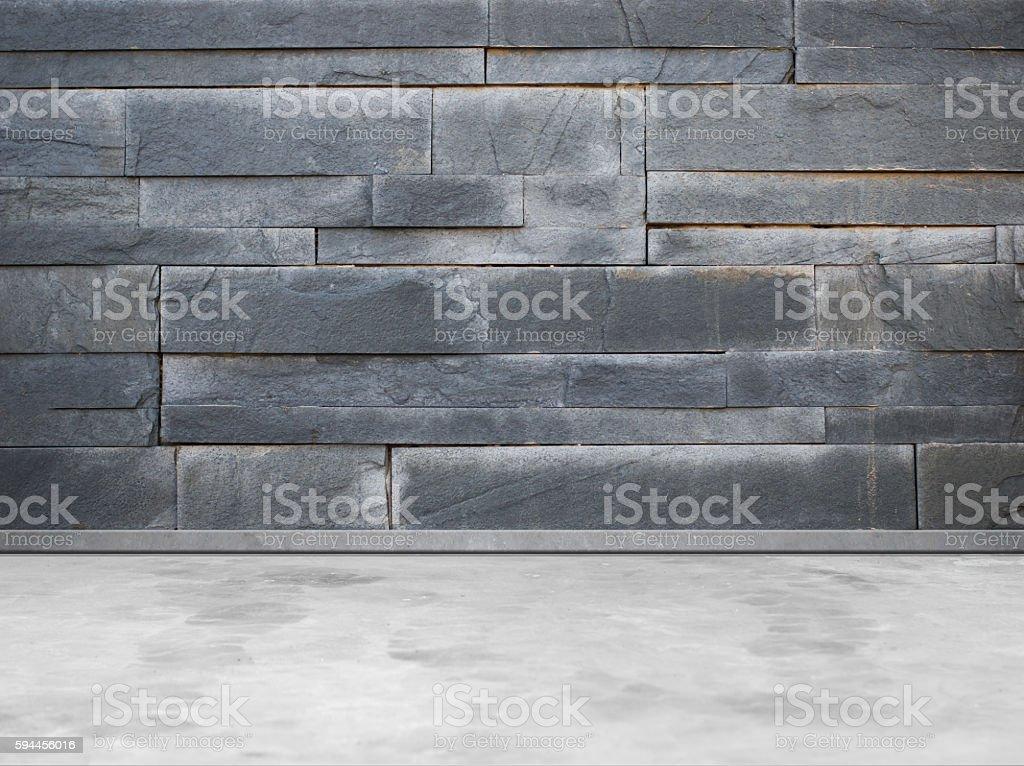 Empty street wall and sidewalk stock photo