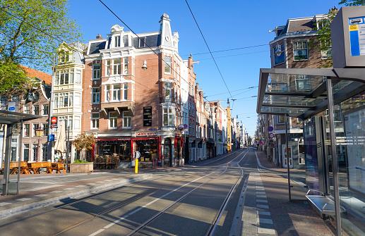 Empty streets in Amsterdam