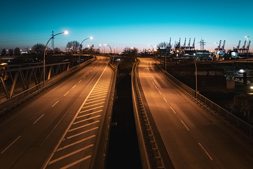 Empty Streets in Hamburg
