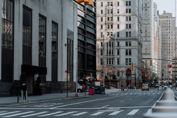 Empty Streets in Manhattan during COVID-19 stock photo