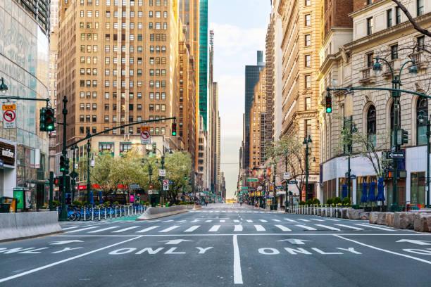Empty streets of New York City during Coronavirus pandemic
