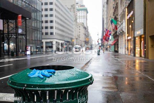 Empty streets of New York City during Coronavirus quarantine lockdown