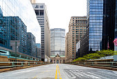 istock Empty streets of Park Avenue leading to Grand Central Station, New York City. 1223297561