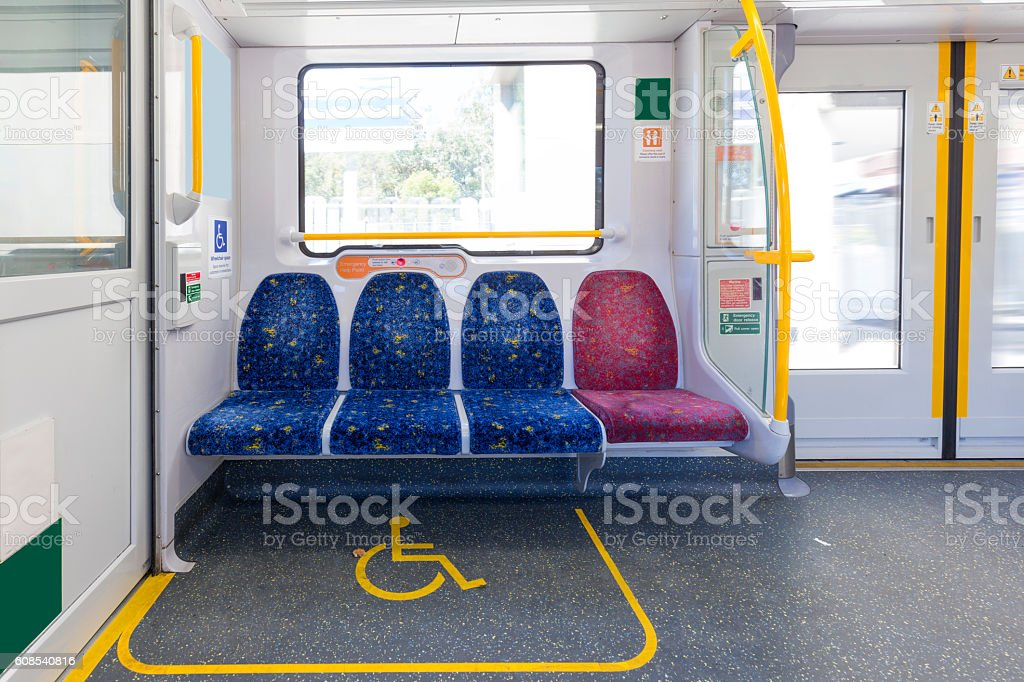 Empty subway carriages stock photo