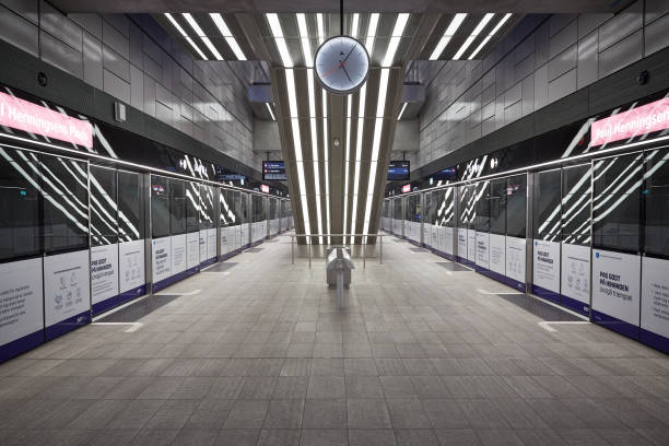 Empty Subway During Coronavirus stock photo