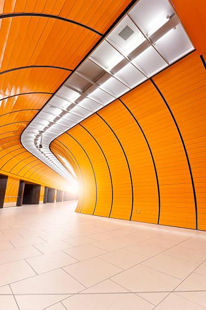 empty subway station marienplatz munich - munich train station bildbanksfoton och bilder
