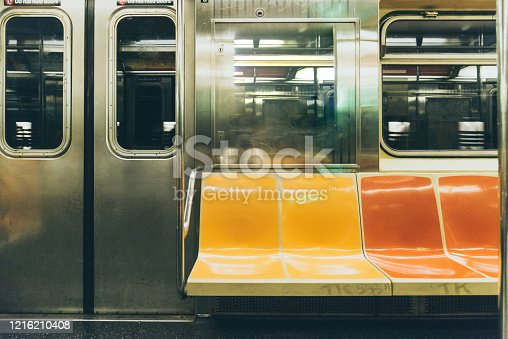 Empty Subway Train in New York