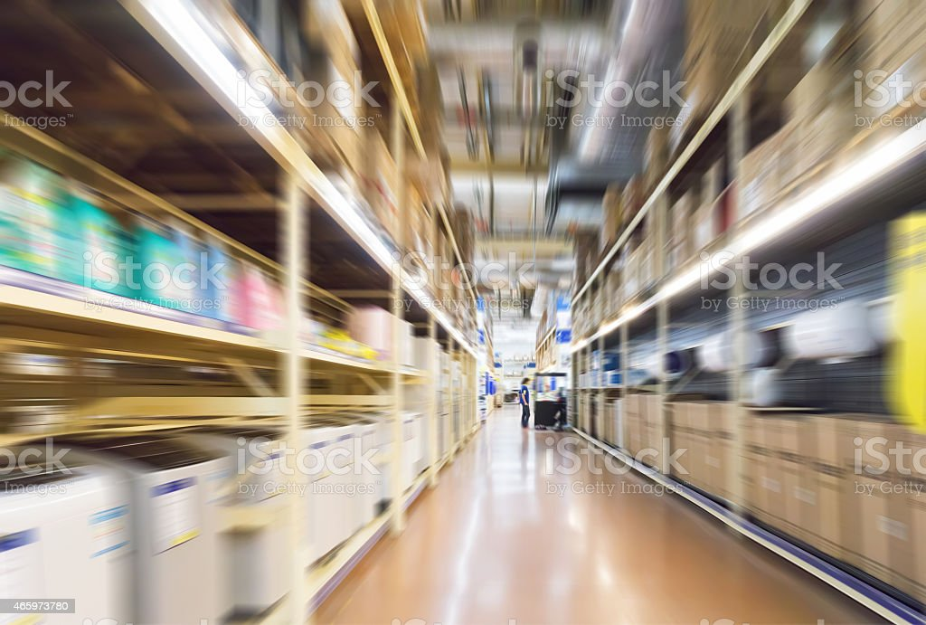 Leere Supermarkt Gang, Motion Blur – Foto