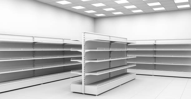 Royalty Free Empty Store Shelves Clip Art, Vector Images ...