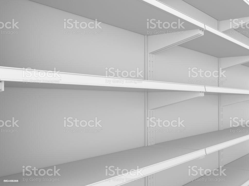 Supermercado estante vacío - foto de stock