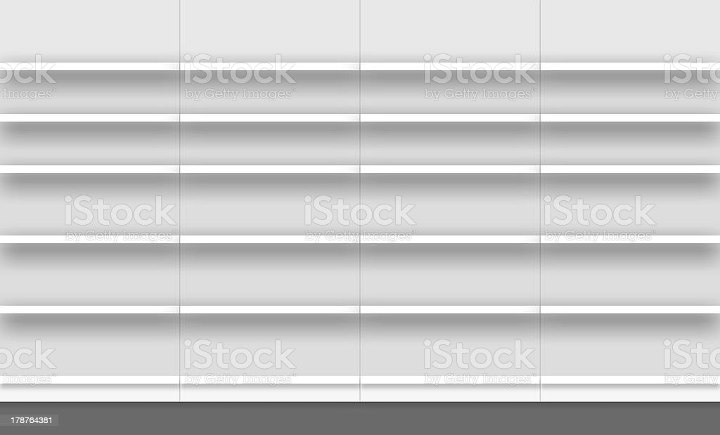 empty supermarket shelves royalty-free stock photo