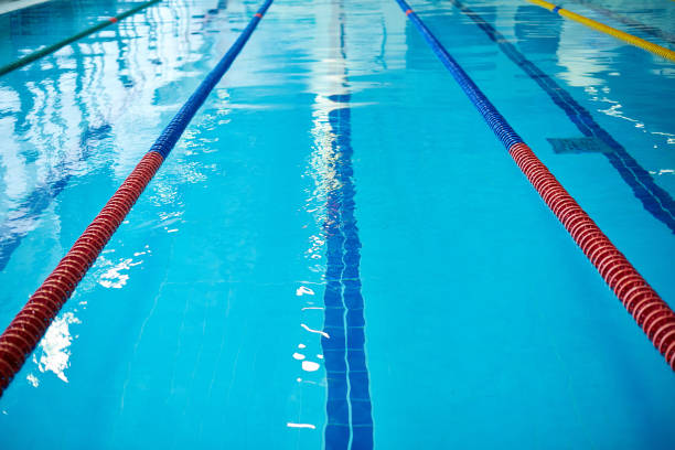 empty swimming pool - competition group stock photos and pictures