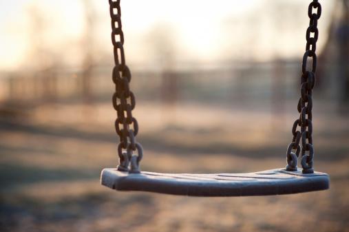Empty Swing in a morning light.