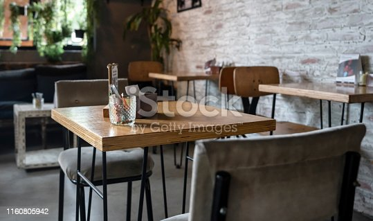 Empty table at a restaurant - small business concepts