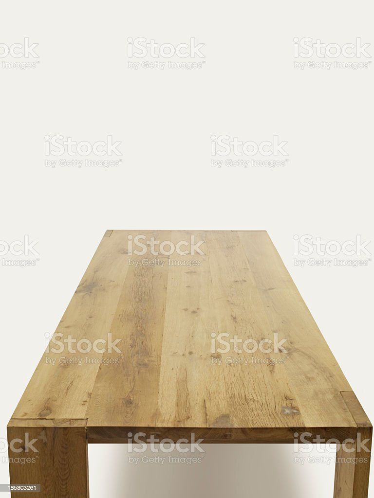 empty table for place setting stock photo