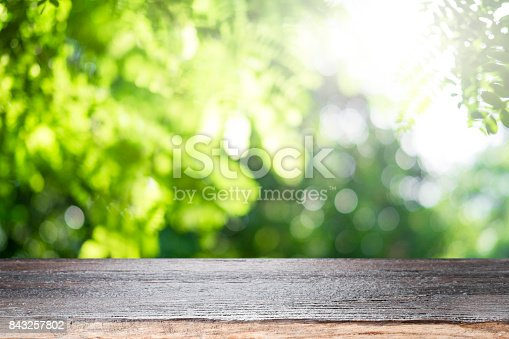 istock Empty table for present product. 843257802