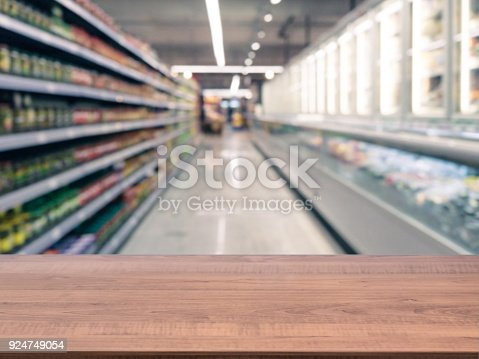 istock Empty table in front of blurred background 924749054