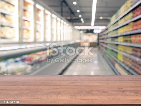 istock Empty table in front of blurred background 924761710
