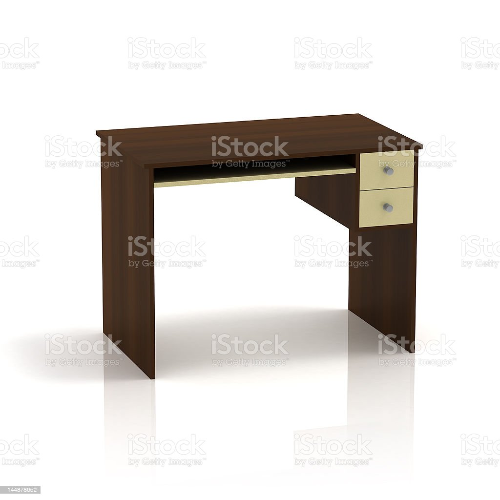 Empty Table Office royalty-free stock photo