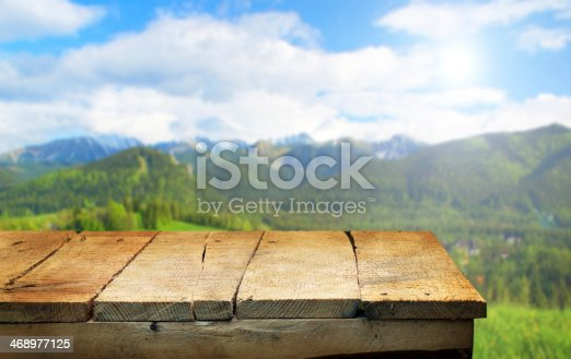 istock empty table 468977125