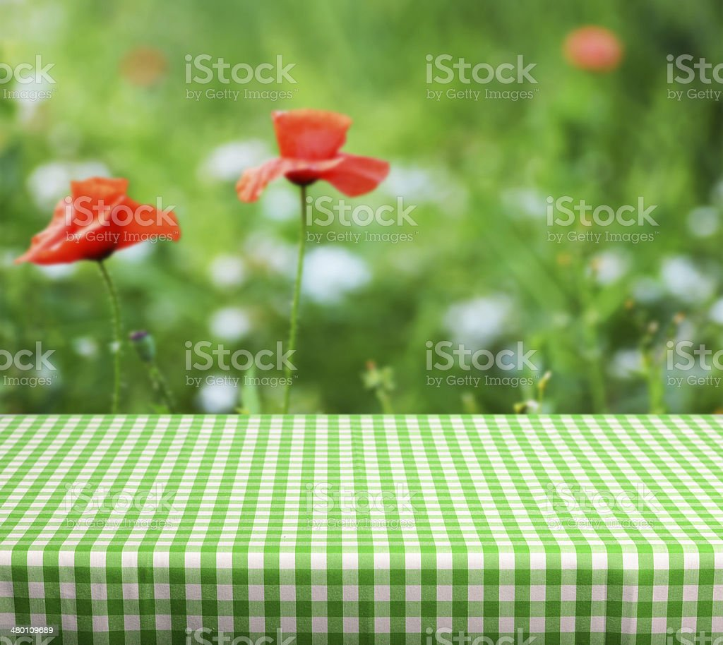 empty table stock photo