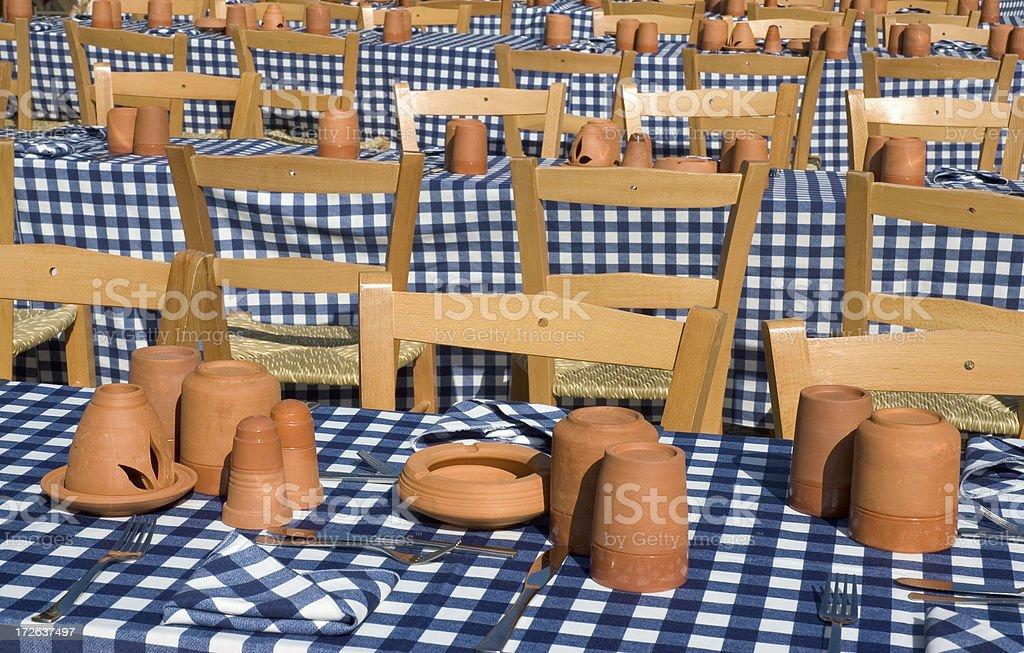 Empty tables royalty-free stock photo