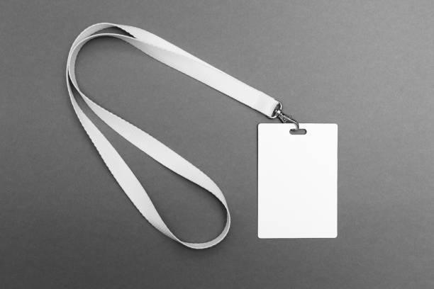 Empty Tag id, Badge blank mock up. stock photo