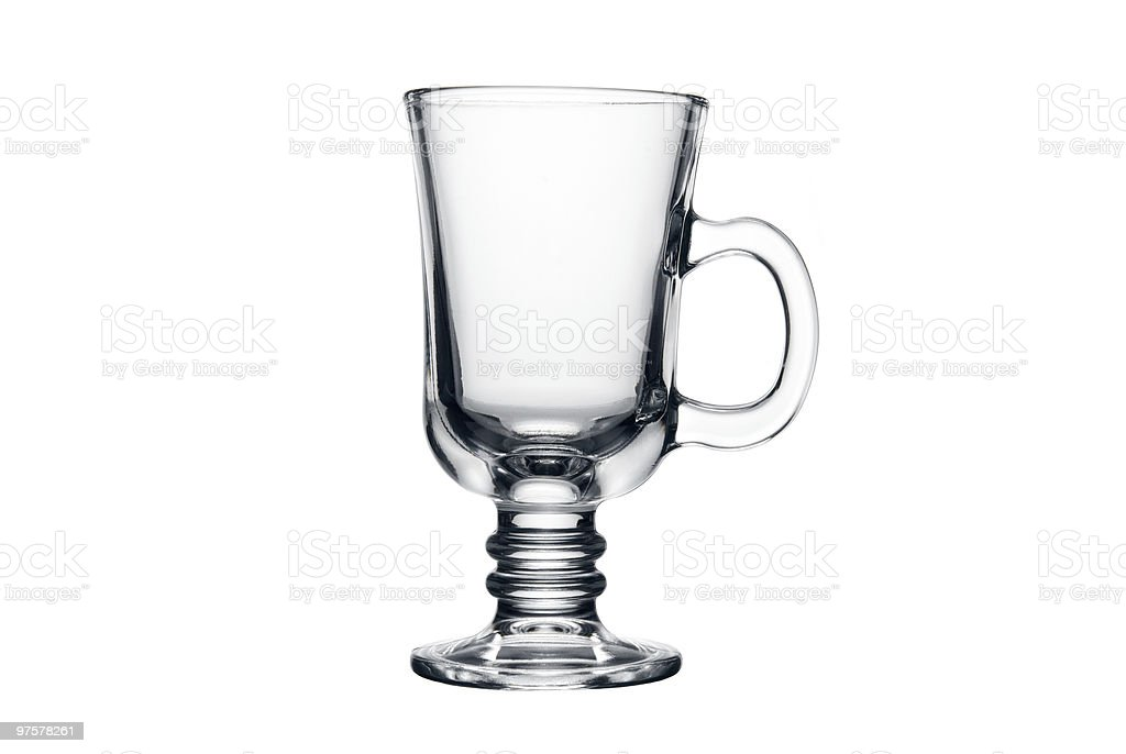 Empty tea glass isolated on a white background royalty-free stock photo