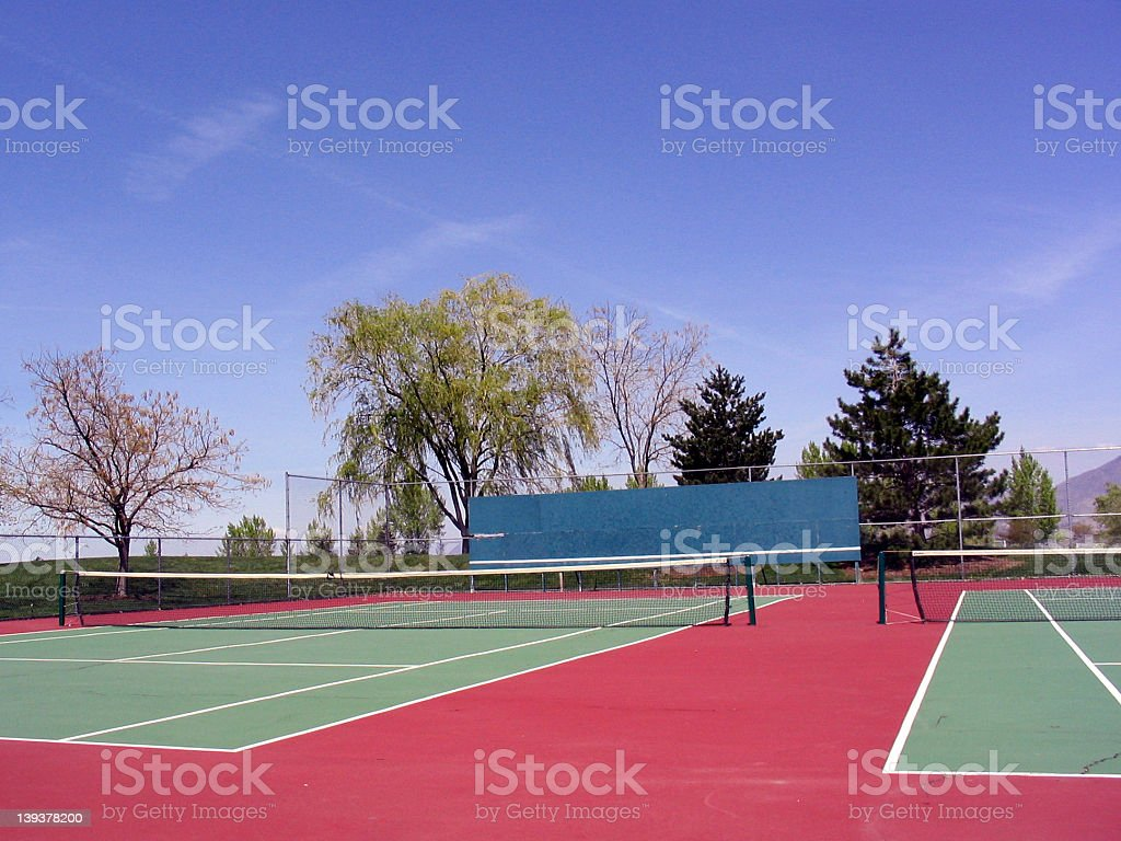 Empty Tennis Court royalty-free stock photo