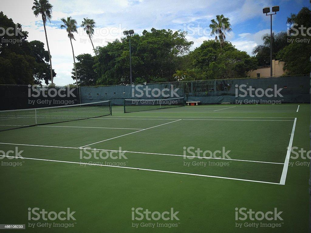 Empty Tennis court stock photo